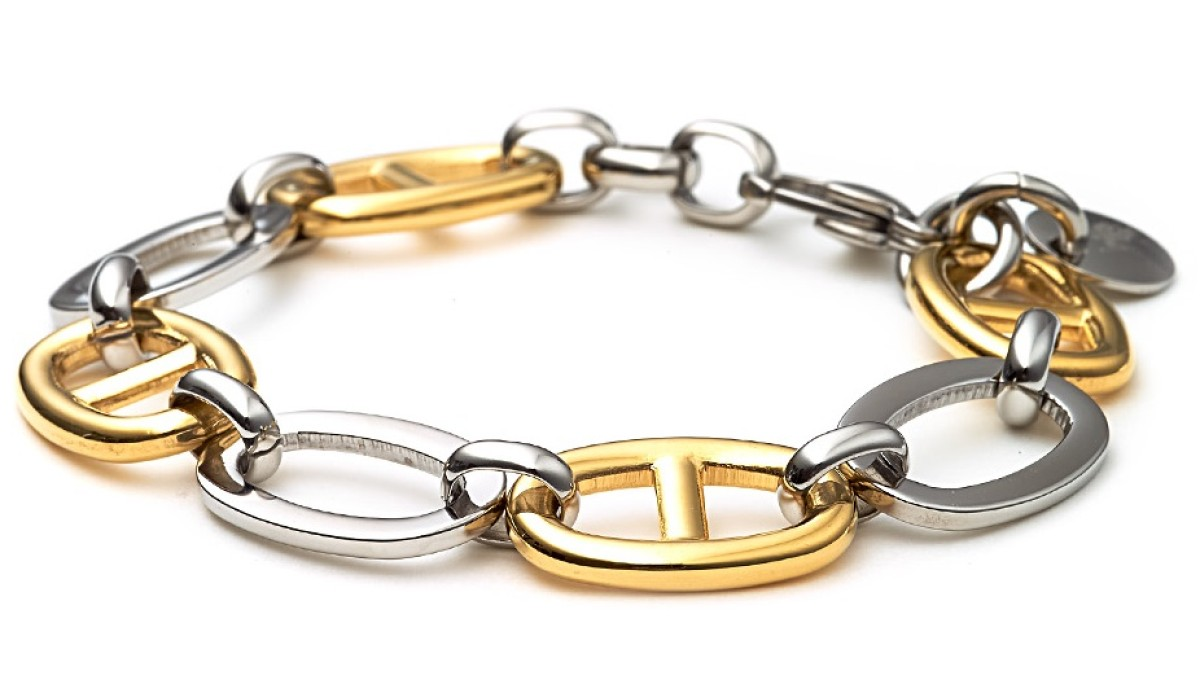 Shabas Yellow Gold & Steel